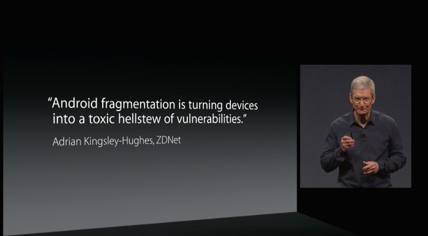 Cook on Android Fragmentation and Malware