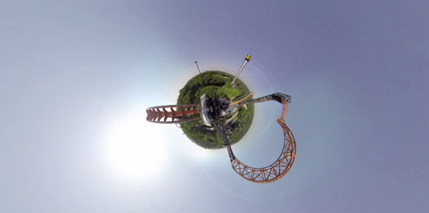 360-degree GoPro Roller Coaster Video