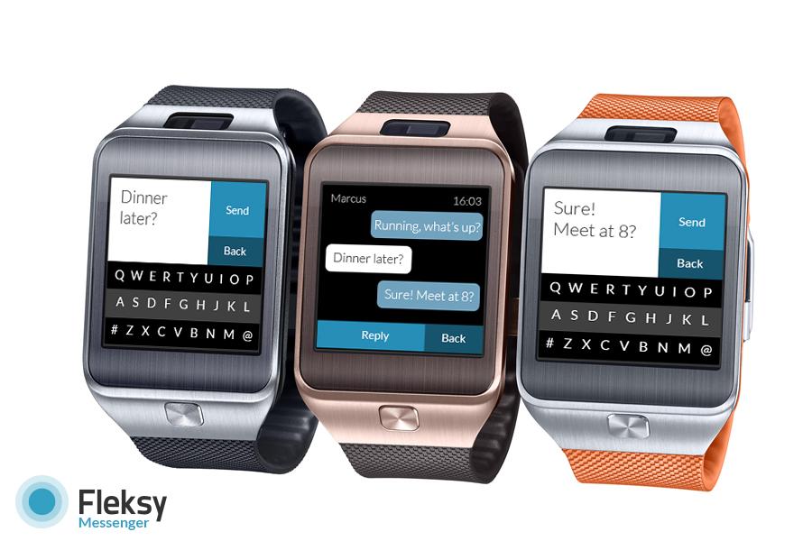 Fleksy Messenger App for Gear 2