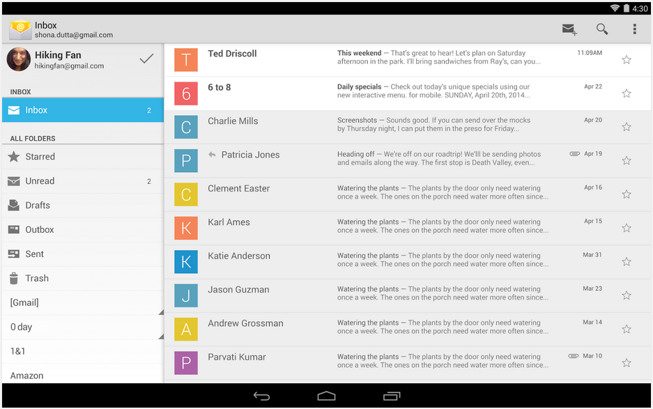 Google Stock Email App Released