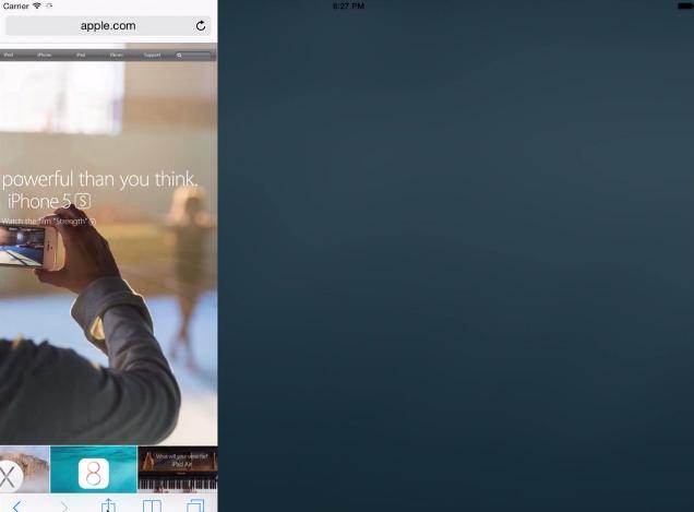 iOS 8 Features: Spilt-screen Multitasking