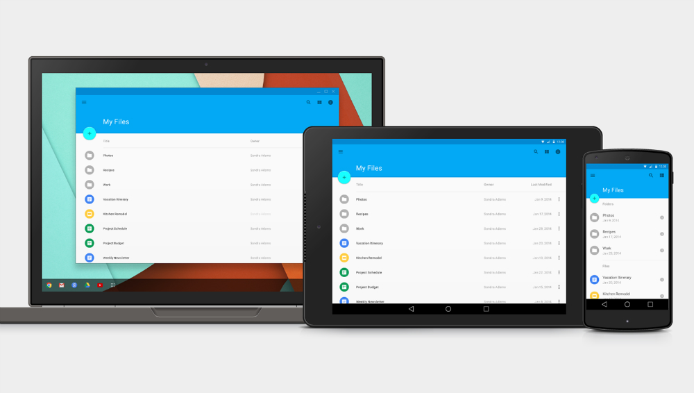 Android L Material Design Instagram Concept