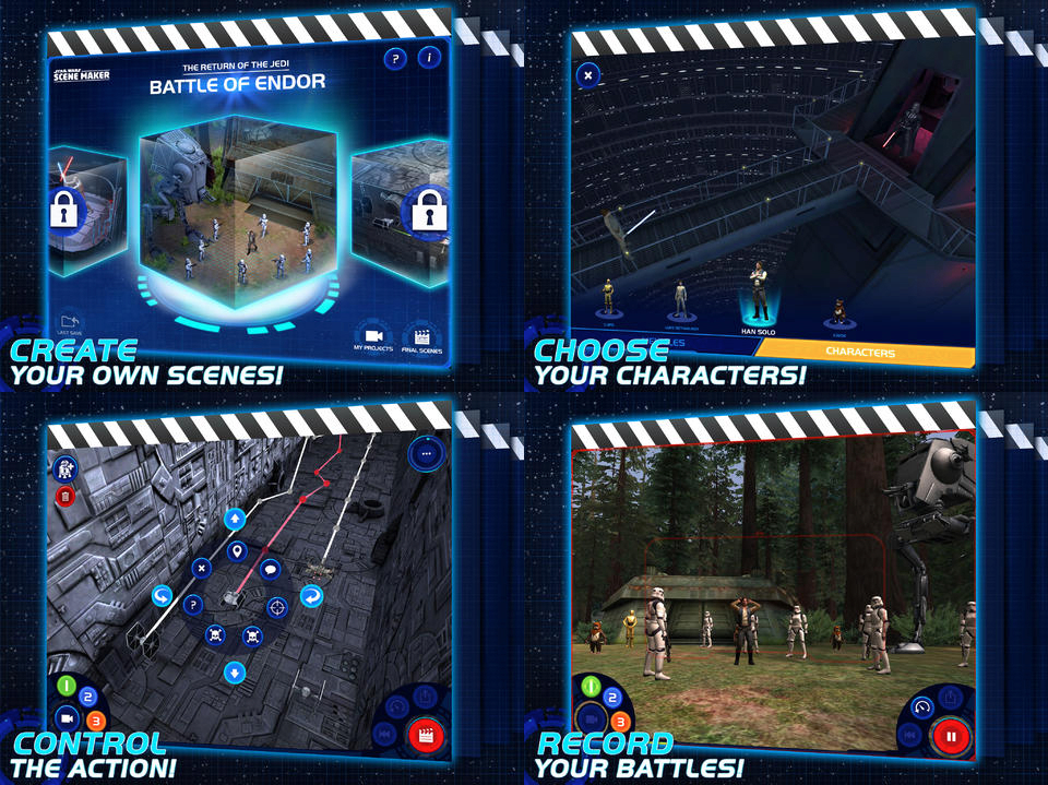 Star Wars Scene Maker iPad App