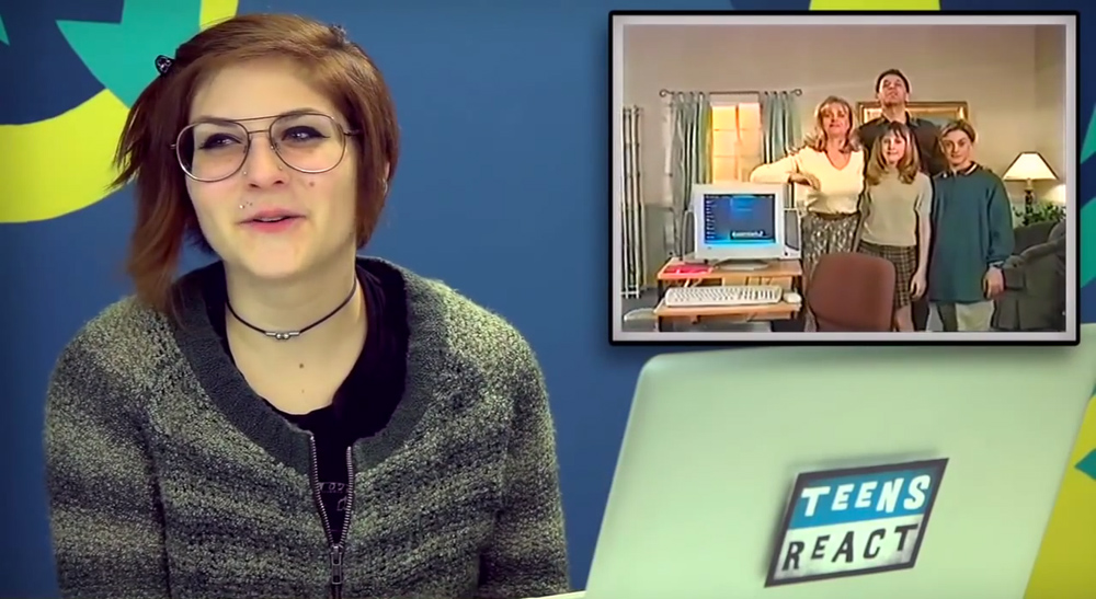 Teens React 1990s Internet