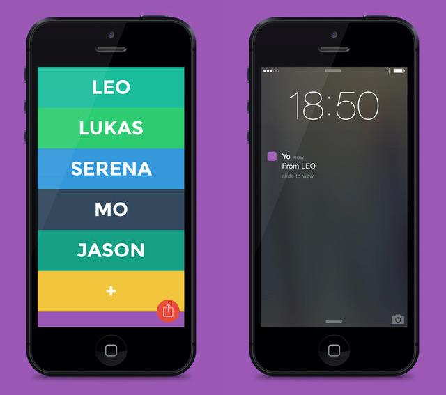 Yo App for iPhone
