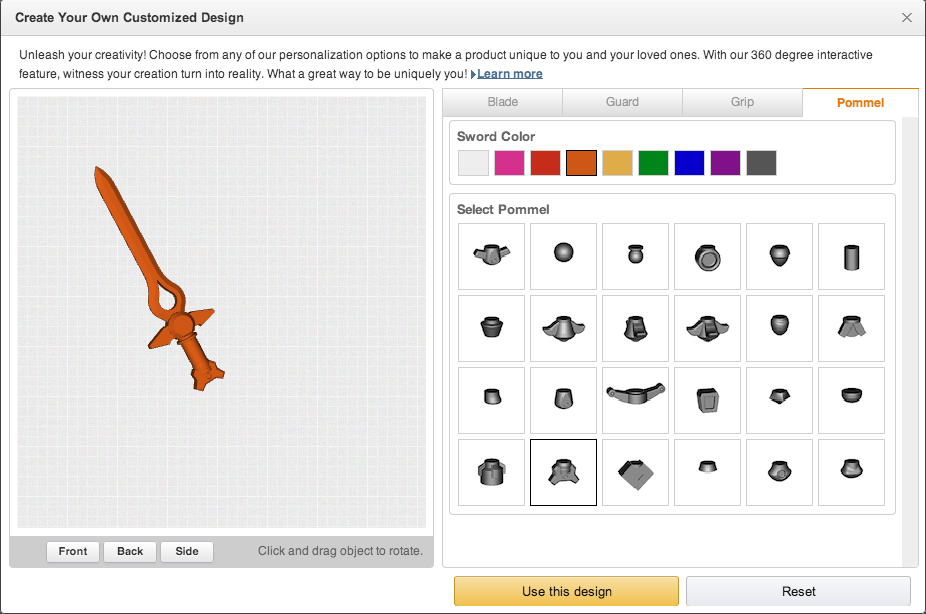 Amazon Launches Its Own Store of Customizable Printed 3D Objects