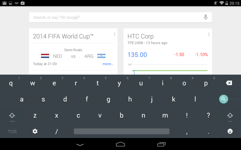 Android L Keyboard App Returns