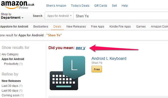 Android L Keyboard Search
