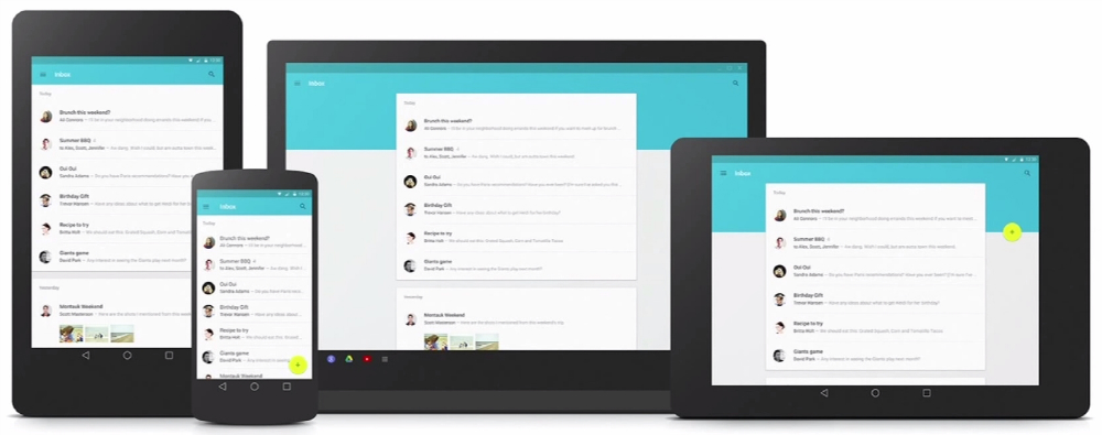 android l material design apps shown in extensive image