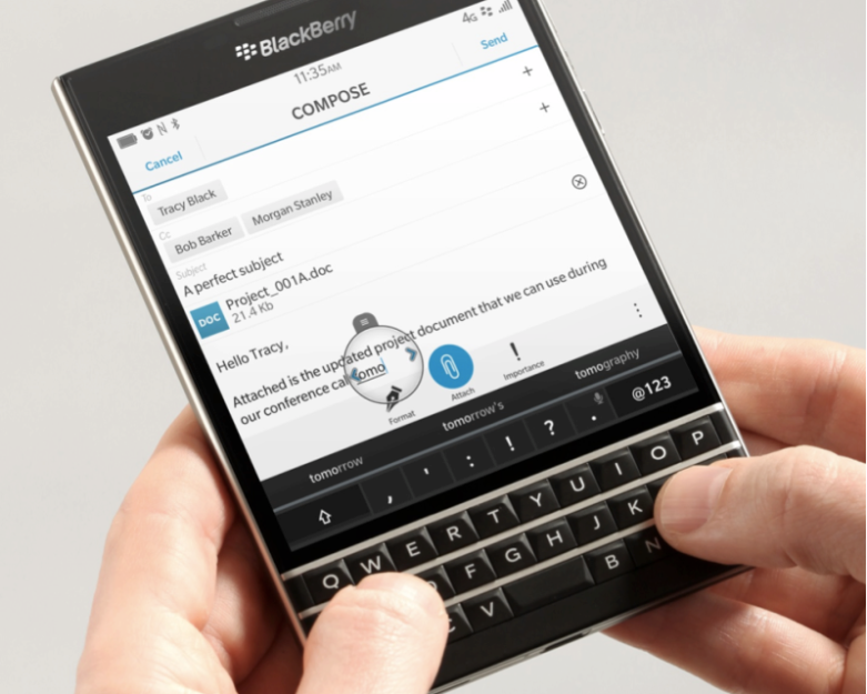 BlackBerry Passport Keyboard Features
