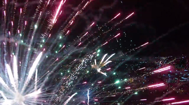 Man Launches Fireworks Off Head Dies