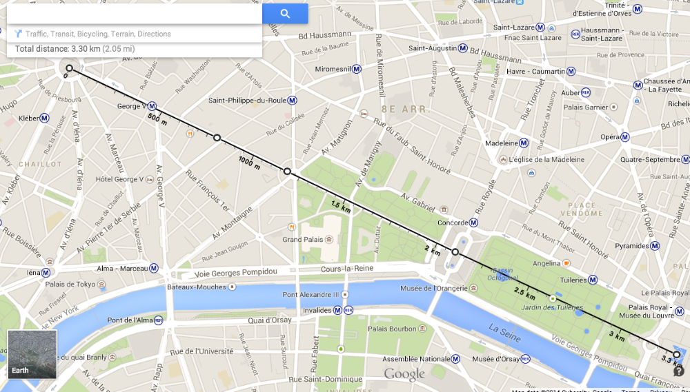 Google Maps Distance Measurement Feature