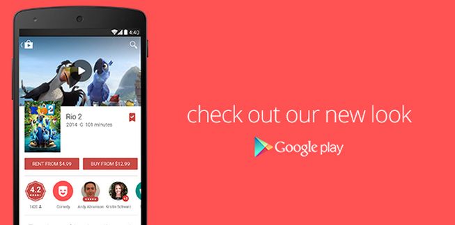 Google Play Store Material Design Update