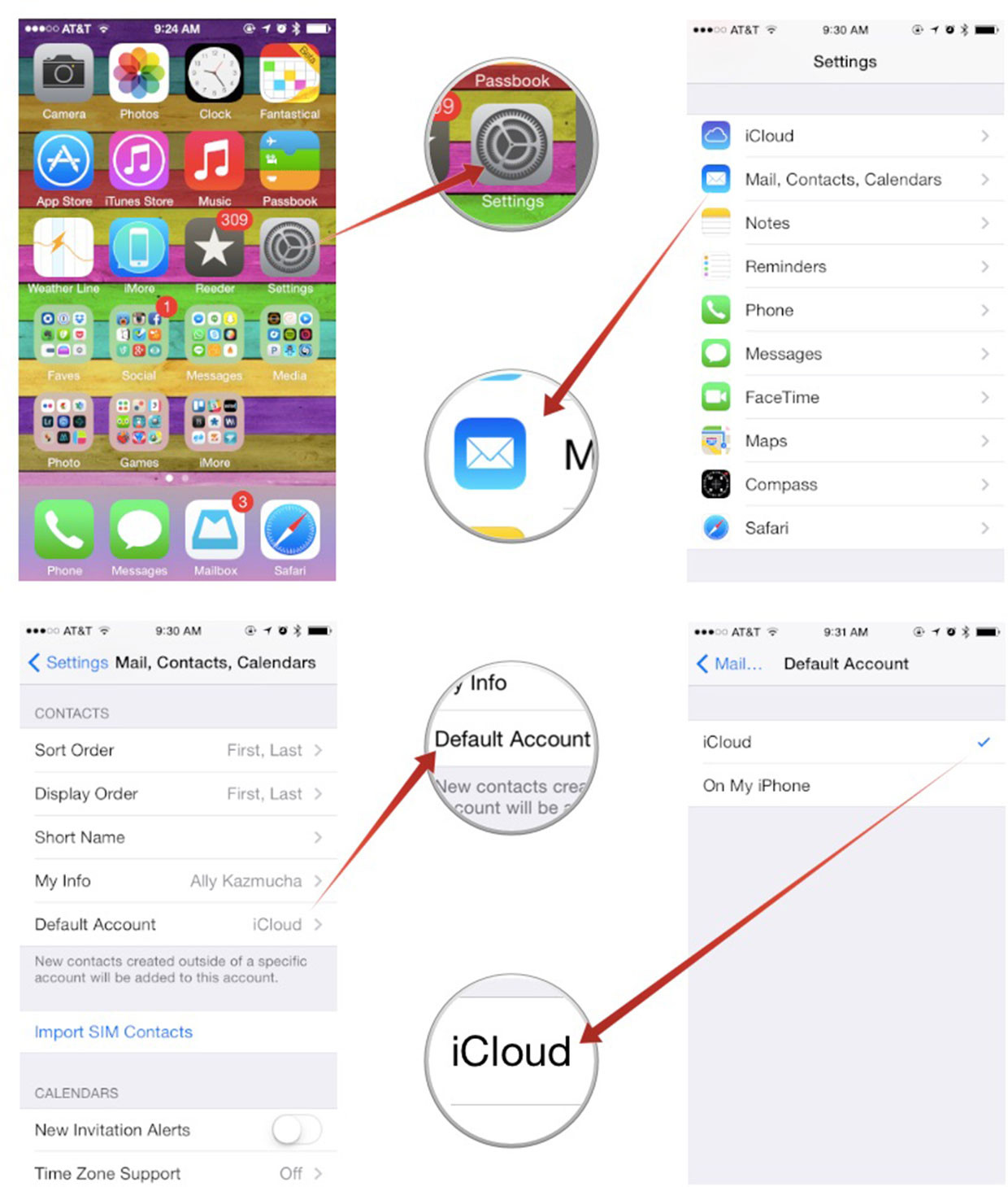 how to use my icloud email account