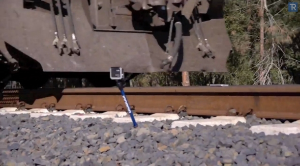 Video: Want to see what happens when an iPhone 5s gets run over by a train? Of course you do