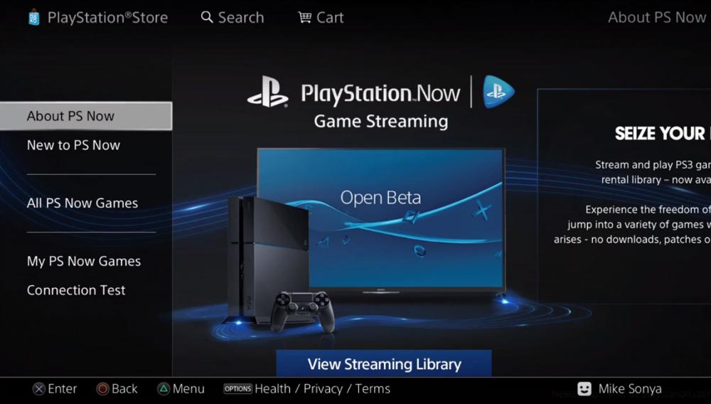 PlayStation Now Open Beta for PS4