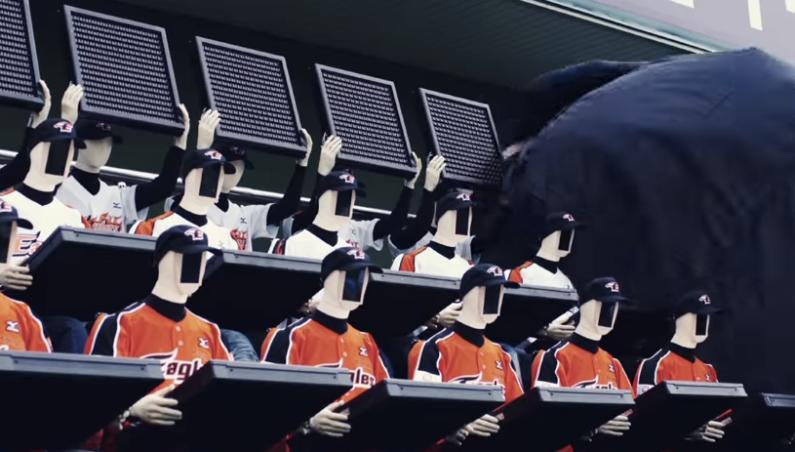 South Korean Baseball Robot Fans