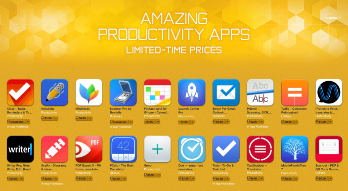 iPhone Productivity Apps Sale