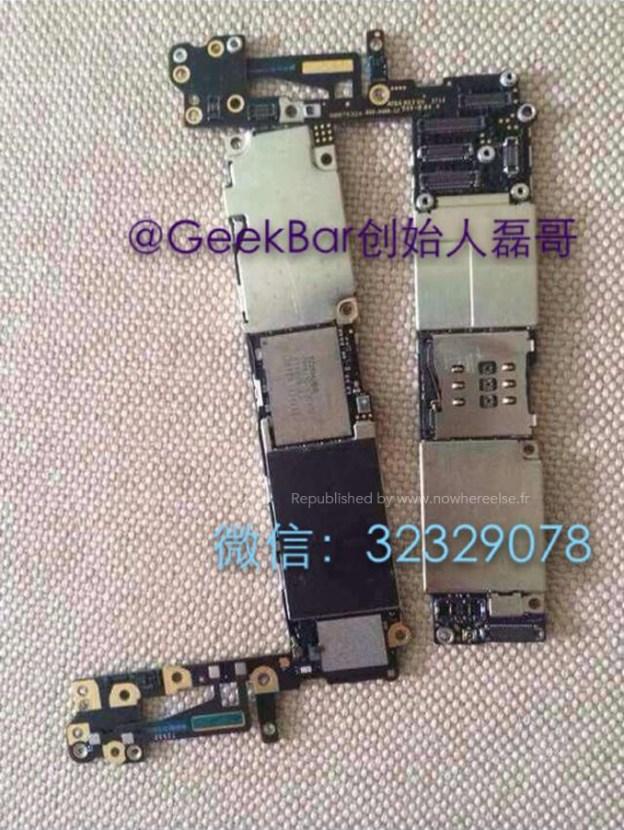 iphone 6 components leak motherboard shown for first time. Black Bedroom Furniture Sets. Home Design Ideas