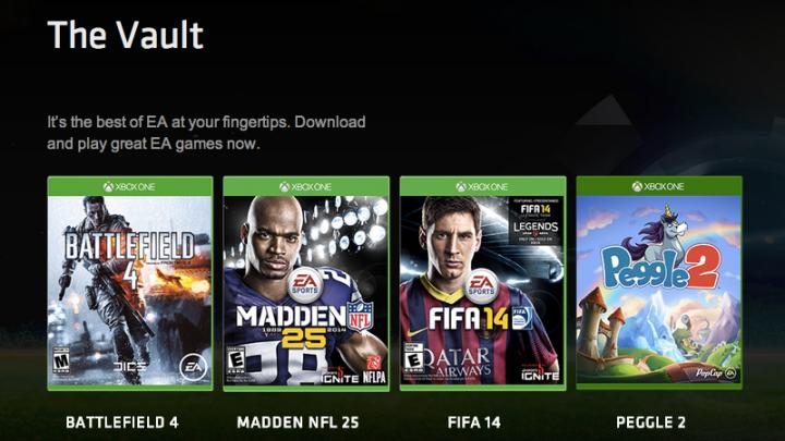 EA Access Games Library