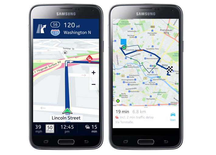 Galaxy Smartphones Free Here Maps