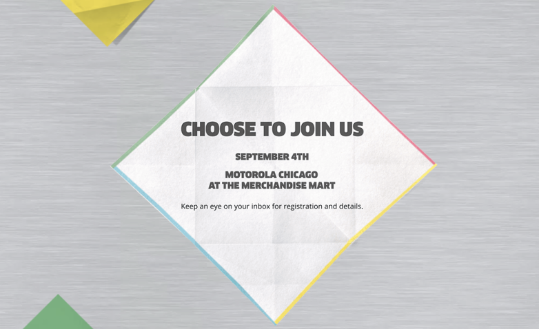 Motorola Moto X+1 Event September 4th
