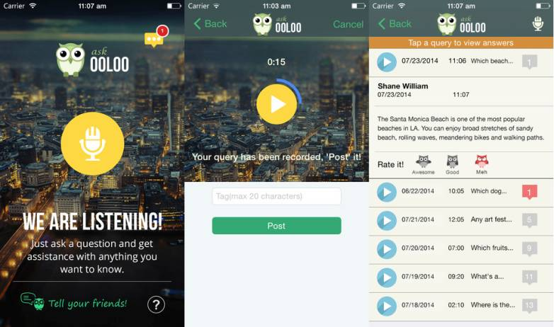 Ooloo iOS and Android Human Search Assistant