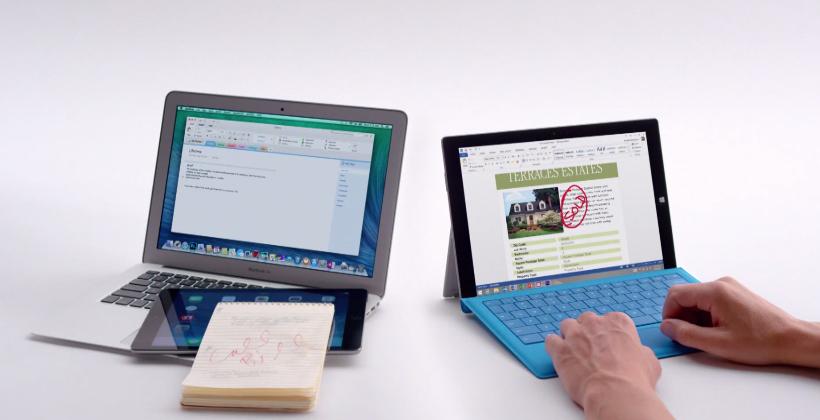 Surface Pro 3 vs MacBook Air TV Ads