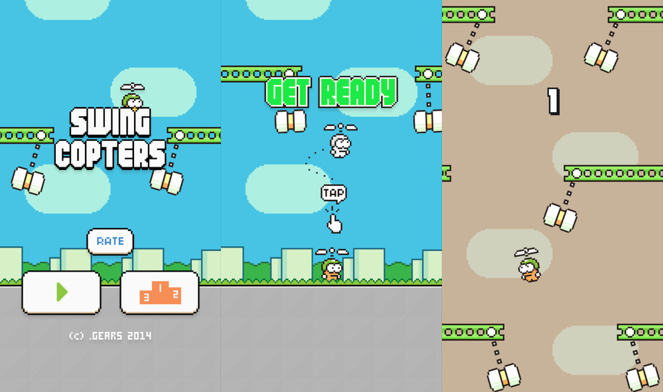 Flappy Bird Swing Copters Sequel