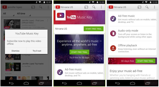 Google YouTube Music Key