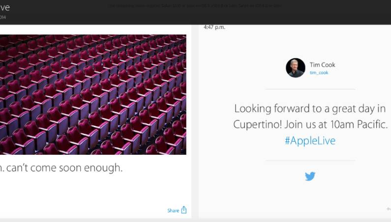 iPhone 6 Live Blog on Apple.com