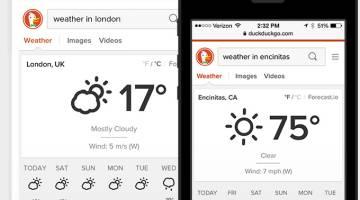 iOS 8 DuckDuckGo Search