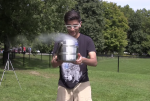 Man dumps liquid nitrogen on