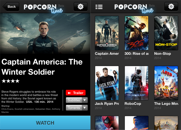 Popcorn Time iOS App Mac Installer