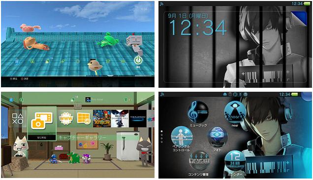 PS4 PS Vita Themes