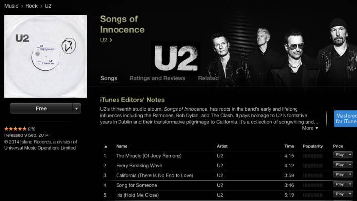 Apple Free U2 Album Russia