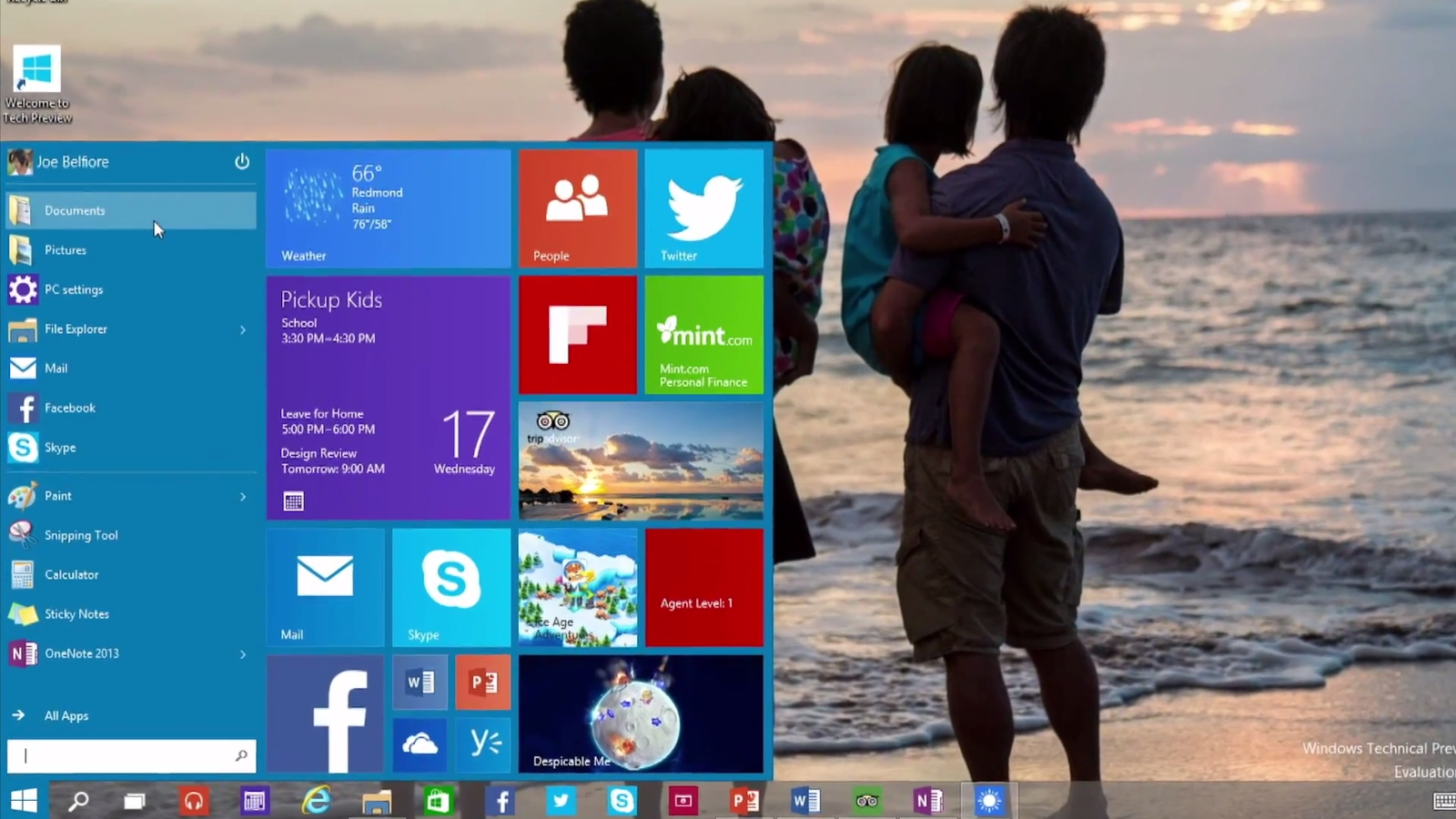 Windows 10 Start Menu Screens