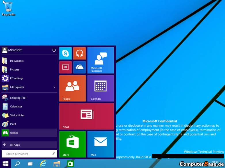 Windows 9 Technical Preview Leak