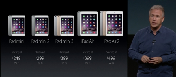iPad Air 2 vs iPad mini 3 vs iPad Air vs iPad mini 2
