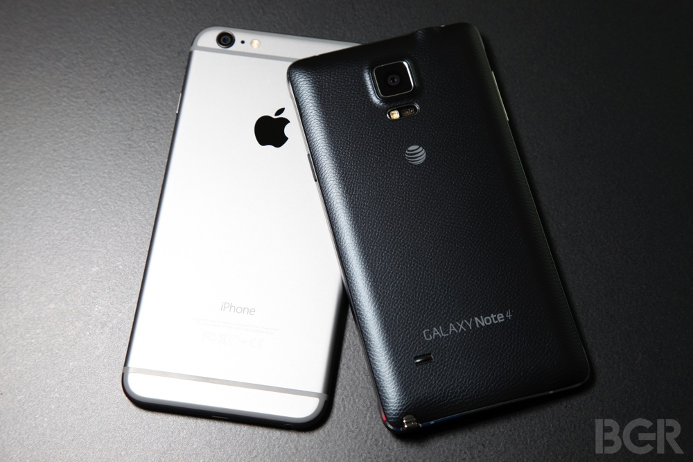 iPhone 6 Plus vs Note 3 vs Note 4