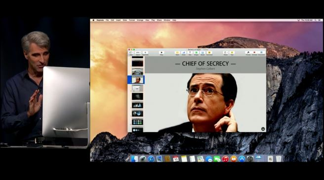 Apple Stephen Colbert Security