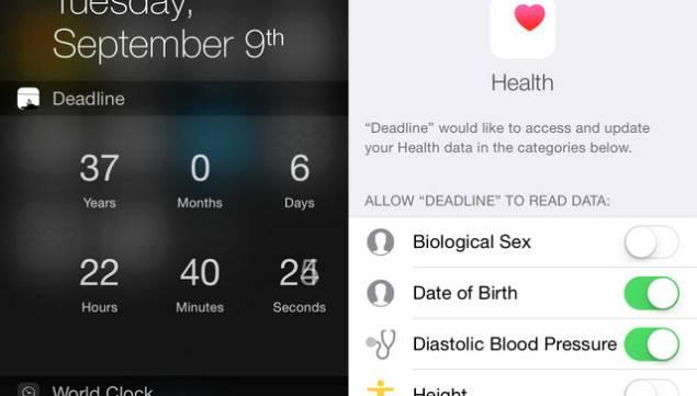 Deadline iOS 8 Health App