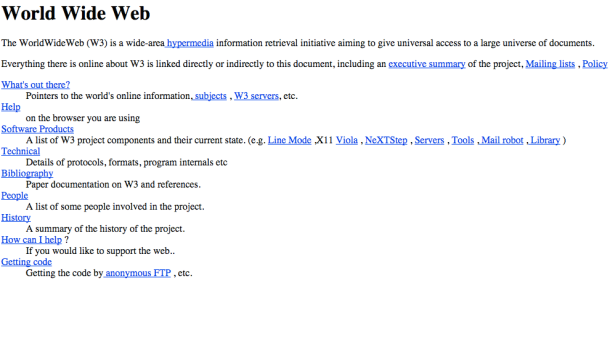 First Web Page Ever Created