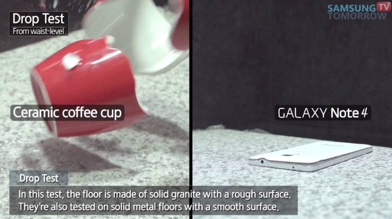 Galaxy Note 4 Drop Test Video