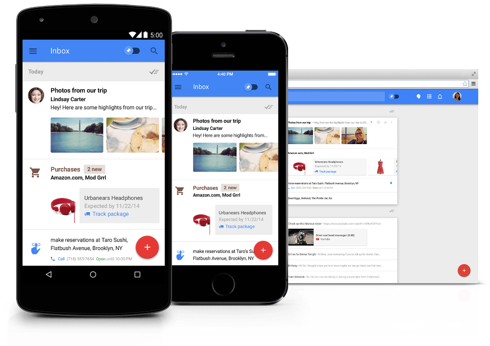 Inbox Vs. Gmail 5.0 Comparison