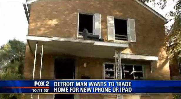 Detroit Man Trades House For iPhone
