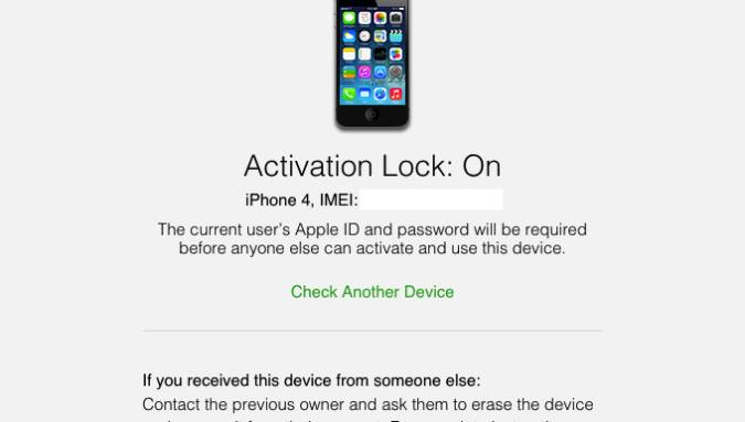 iPhone iCloud Activation Lock Check