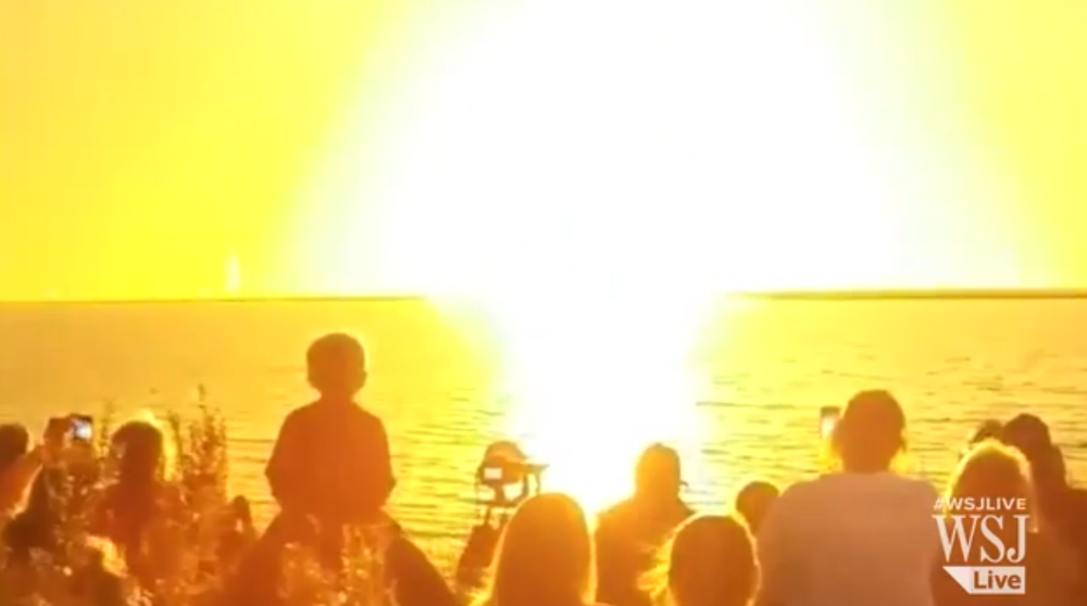 NASA Antares Rocket Explosion Video