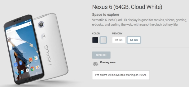 %name This is when you'll finally be able to preorder Google's amazing new Nexus 6 by Authcom, Nova Scotia\s Internet and Computing Solutions Provider in Kentville, Annapolis Valley