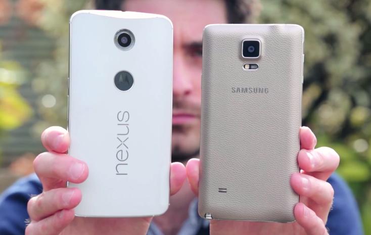 Nexus 6 Vs. Galaxy Note 4 Video